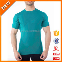 2017Men sport gym t shirts 50 cotton 50 polyester short sleeve t shirt for men