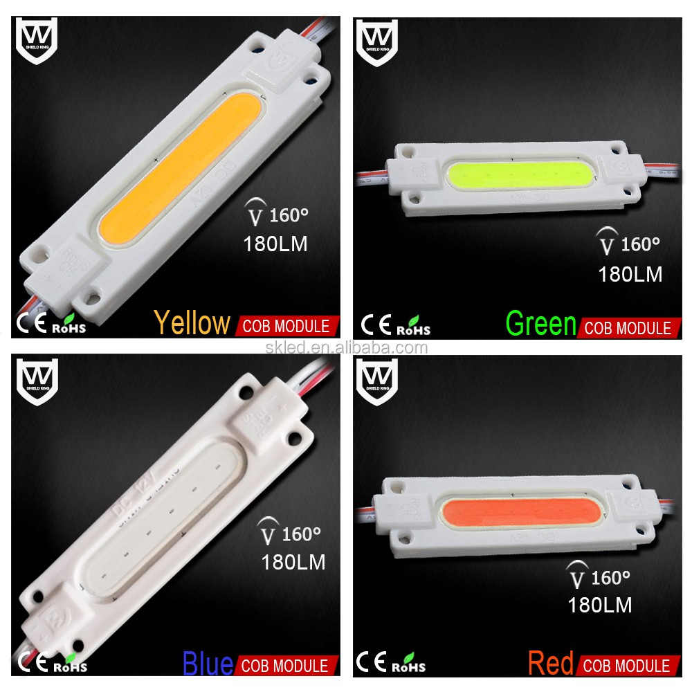 3 years warranty L70W20H3mm pcb board cob led injection modules dc12v for signs with ce rohs