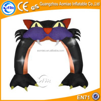 Scary Cat shaped balloon arch , cheap decoration sale air arch