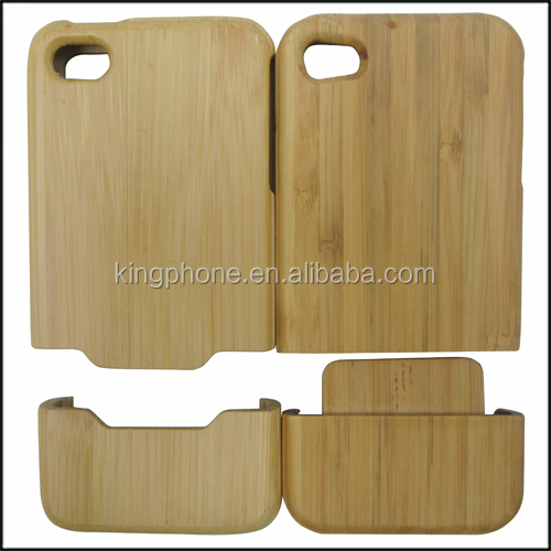 2014 newest product carbonized bamboo mobile phone case for iPhone4