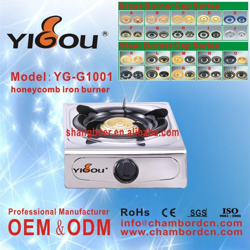 YG-G1001 kitchen gas stove size cocinas a gas