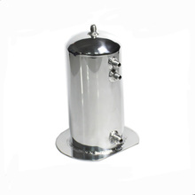 Mentor 2.5L Aluminum Light Weight Mirror Polished Surge Round Tank Fuel Surge Catch Can Tank