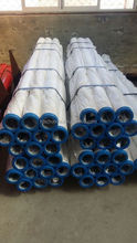 "DN100 4"" concrete pump electrostatic induction hardened pipe with two wall collar"