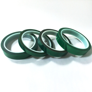 smt splice tapesmt no residual glue Green Polyester silicone adhesive tape