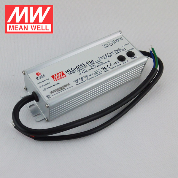 Mean Well HLG-60H-42 IP67 Waterproof 60W 42V LED Power Supply Constant Voltage LED Driver