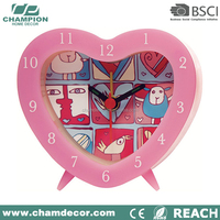 Kids heart shape alarm desk clock , quartz clock picture