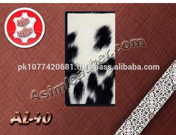 High Quality Genuine Cow Leather with Hair on Passport Wallet
