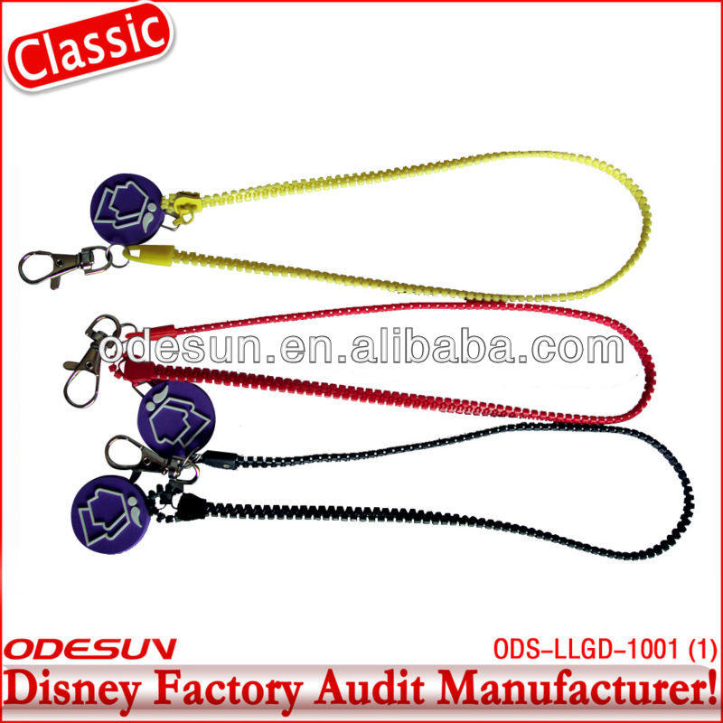 Disney factory audit zipper lanyard 143251