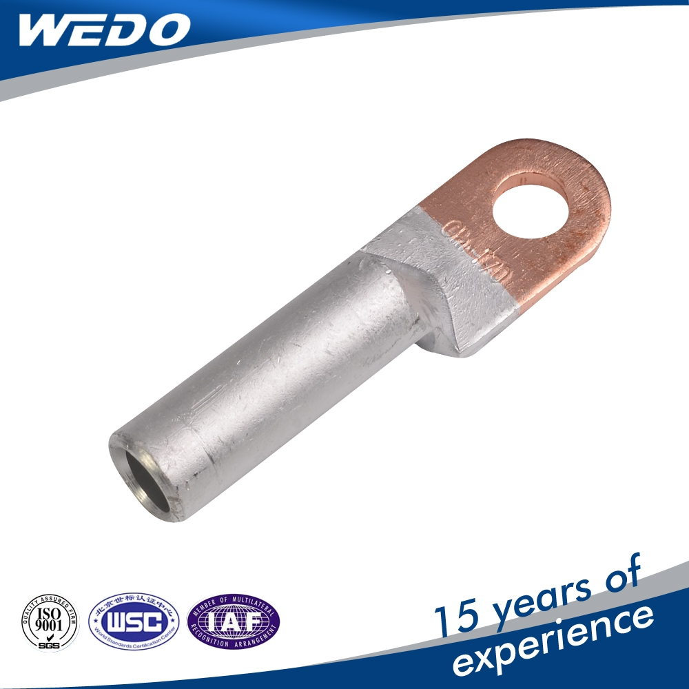 DTL bimetal bimetallic ferrule copper aluminum earth grounding connecting clip cable wire shoes terminal lug size price