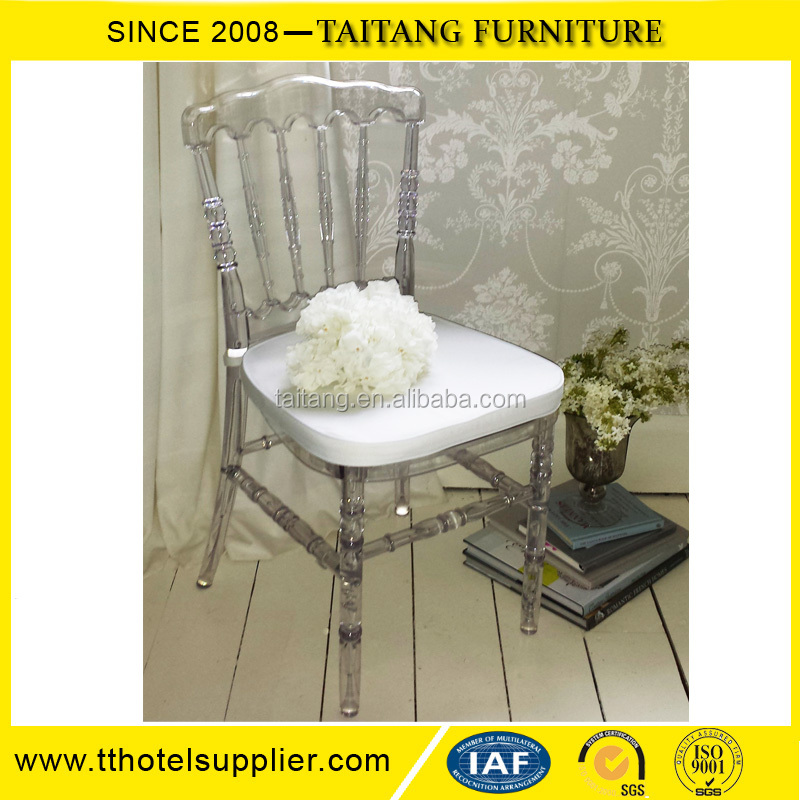 Modern Furniture White Clear Acrylic Napoleon Chair For sale