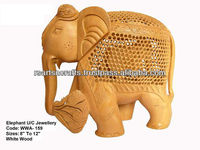 antique wooden statue/indian carving elephant/hand carved wooden statues