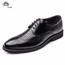High class mens leather dress shoes in black color cow leather in classical style
