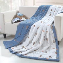 nantong best selling microfiber custom printed quilt, solid color ultrasonic quilt baby bedding sets