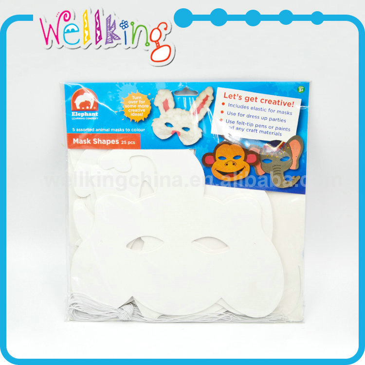 Wholesale cheap white mache craft paper mache party mask