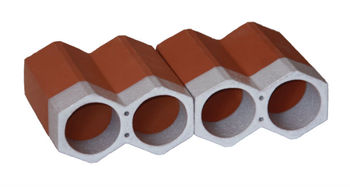 Spanish, terracotta, stackable single glazed ceramic white wine holders and bottle racks, made of clay