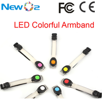 New custom cheap factory price weighted colorful light LED arm band PVC