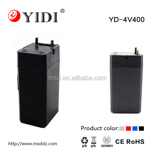 Low Price 4v 0.4Ah nife battery rechargeable lead acid battery