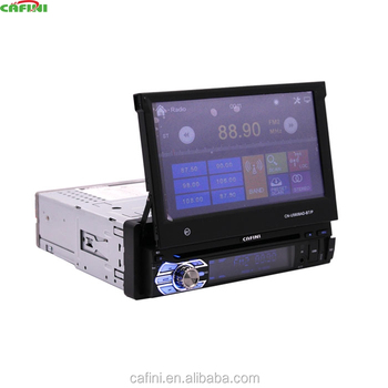 "7"" Screen Size single din 7 inch retractable car cd Mp5 player cafini"