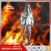 Aluminum Foil Non-Asbestos Cloth Anti For Fireman Fire Resistant Suit