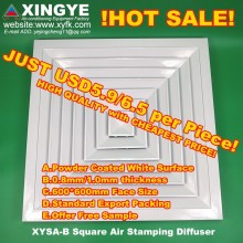 XINGYE XYSA-B600 square hvac air duct diffusers&grilles stamping style vents for roof
