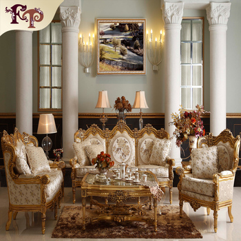 luxury rococo design furniture hand carving classic living room sofa set