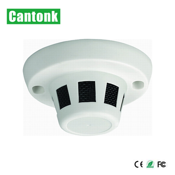 Cantonk New AHD Smoke Detector CCTV  Hidden Spy Starlight Security Camera Bullet Camera