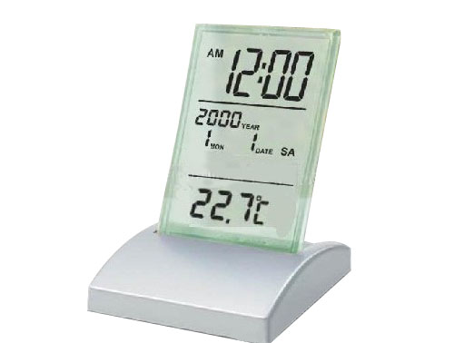 Promotional LCD Desk calendar with clock