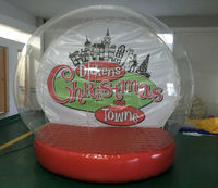 Christmas Promotion PVC Inflatable Custom Made Snow Globe, Giant Inflatable Human Snowglobe