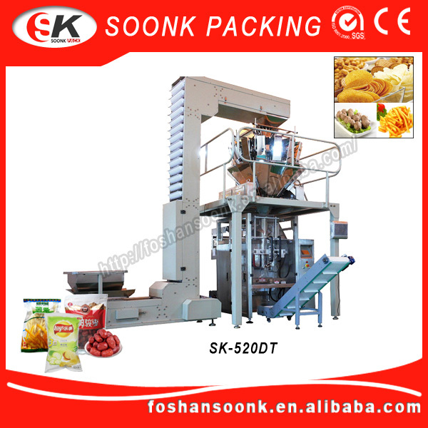 (SK-520DT) Automatic Punching Device 1Kg Automatic Packing Machine For Sugar Sachet