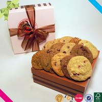 Homemade food grade paper bakery box supplies , bakery packaging