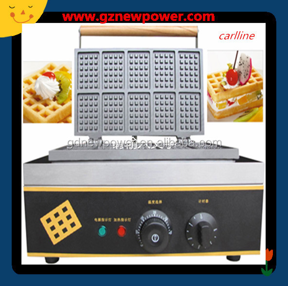 rectangle shape of healthy waffle machine/ hong kong waffle maker