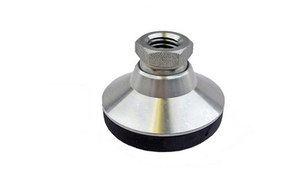 Stainless Steel Base Leveling Mounts With Solid Base and tapped socket