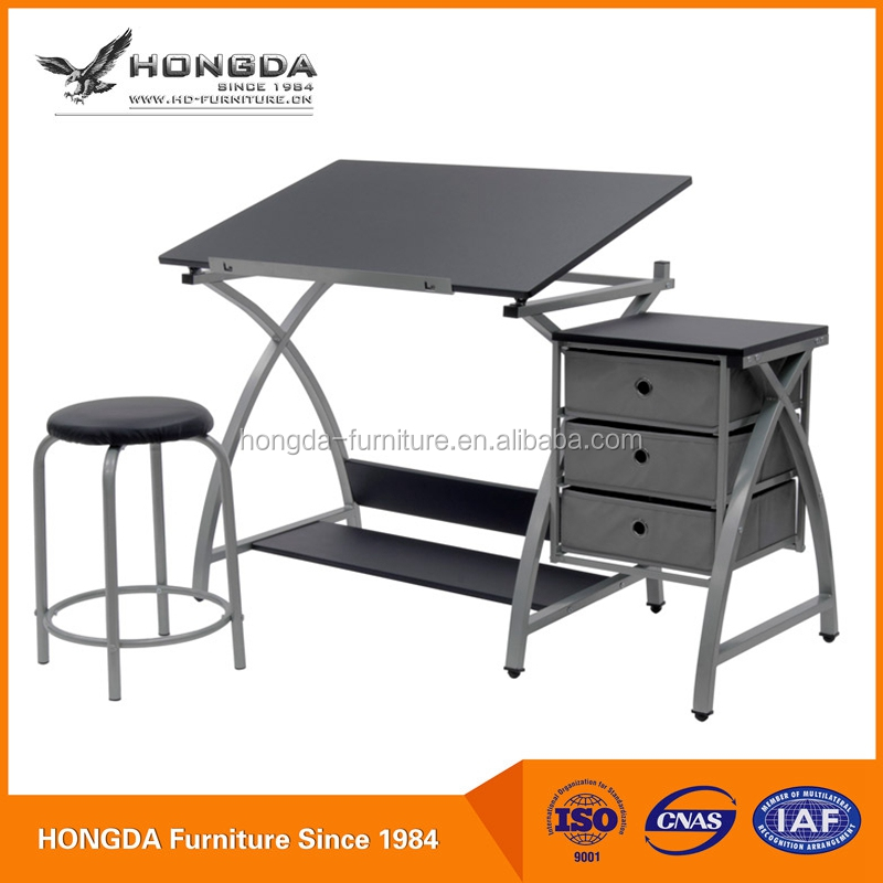 Art & Craft Creative Design Hot Selling Drawing Table with stool