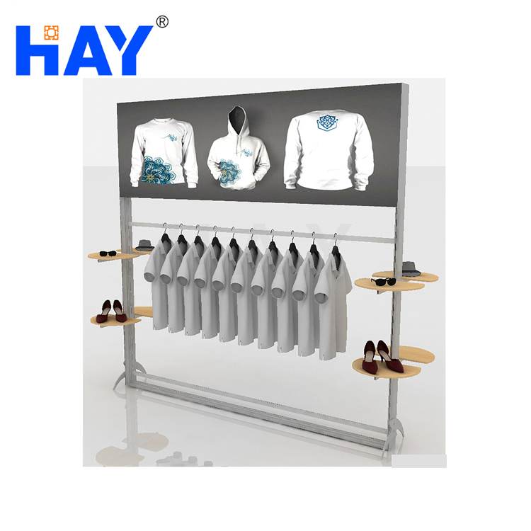 portable shopping mall display stand with led light box