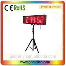 "Godrelish 6"" Double Sided LED Race Timing Clock Outdoor running Events Timing Clock with Tripod"