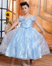 Pre-order Wholesale Western Frock Designs Cinderella Frozen Fancy Ball Gown Long Dress HGN001