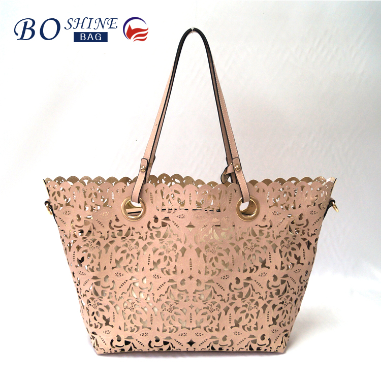 BOSHINE BS-T-003 Dongguan PU leather factory manufacture BSCI promotional ladies handbag