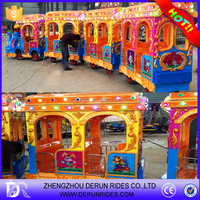 Amusement park electric trackless train,road train