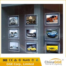 High reliability LED crystal window display estate agents with solid plexiglass panel