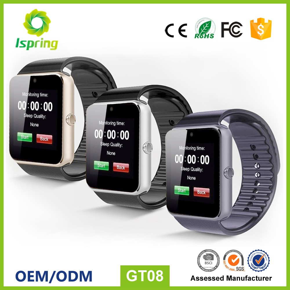 Cheap android mobile smart watch phone, 2017 NEW wearable device