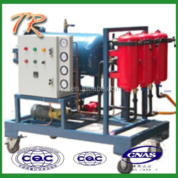 oil recycling machine which could make the black oil clean LYC -50A