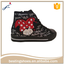 Cheap Custom Printed Oem China Kids Canvas Sample Shoes
