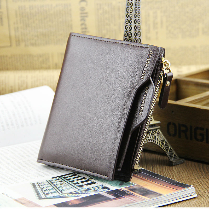 Men Leather Wallet Clutch ID credit Card holder Bifold Purse