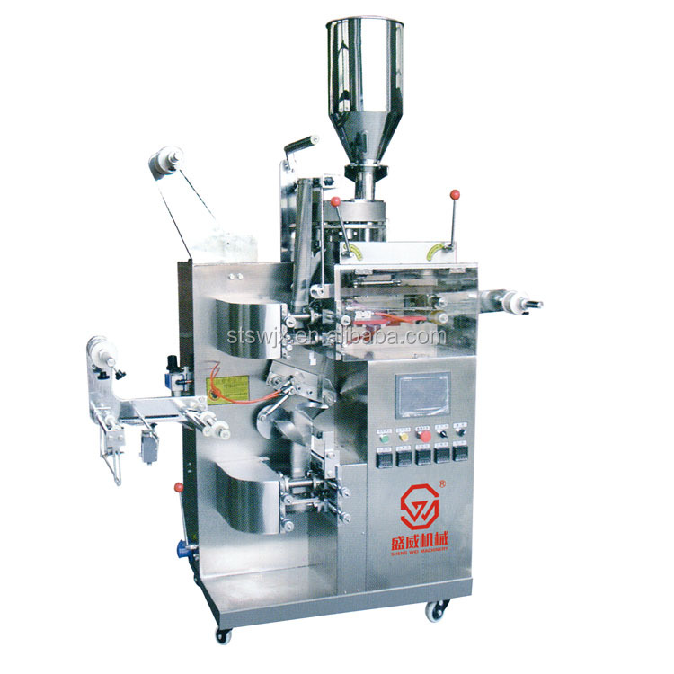 small double chamber tea bag packing machine