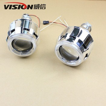 Mini Wholesale Hid Energy-saving Lamps Angel Eyes Ring Bi Xenon Projector Lens Lamp