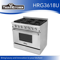 Kitchen appliance stainless steel propane range