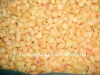 IQF Yellow Peach in Frozen Diced Peaches and Frozen Yellow Peach Cubes