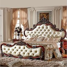 modern european solid wood bed Fashion Carved 1.8 m bed french bedroom <strong>furniture</strong> osc6591