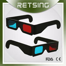 China Manufacture Wholesale Red Cyan 3D Glass Print Logo Used Video