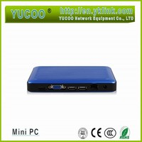 OEM accept Aluminum Plastic Alloy Intel Quad Core Z3735F windows mini pc